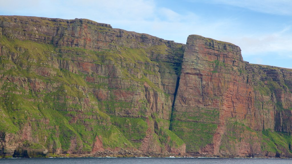 St. John\'s Head showing rugged coastline and mountains