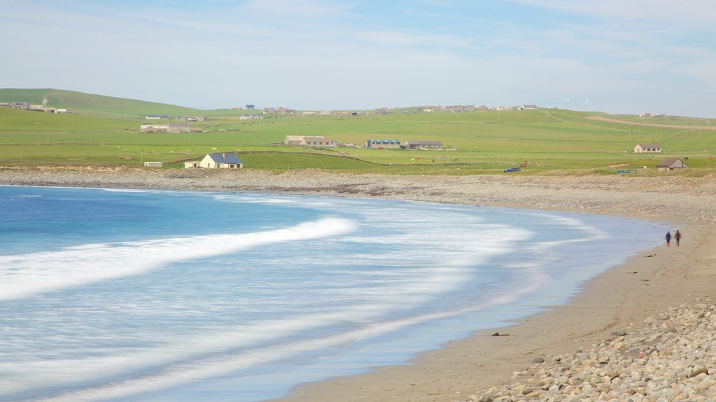 Stromness which includes tranquil scenes, a beach and a pebble beach