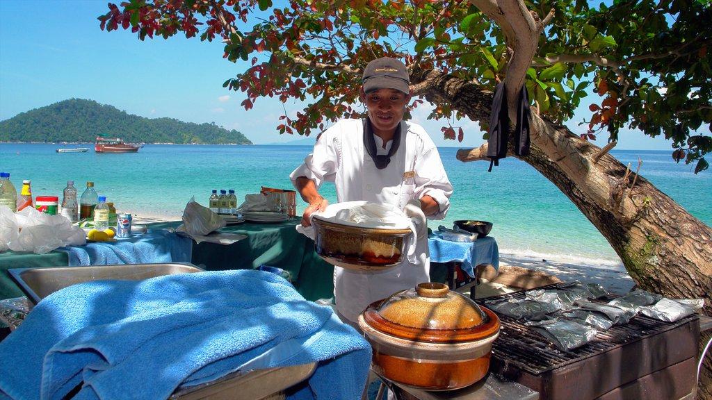 Perak showing general coastal views, tropical scenes and outdoor eating