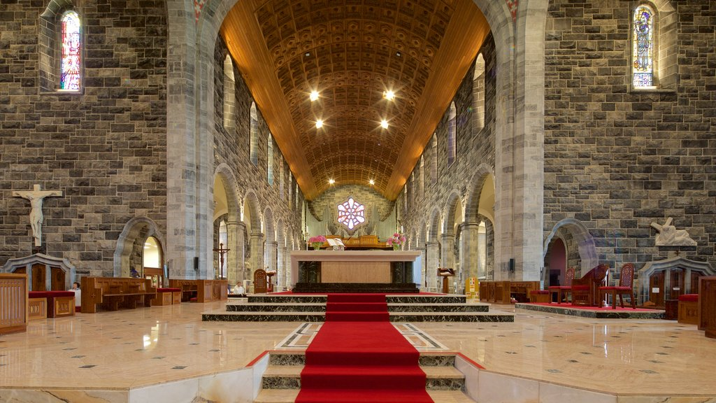 Galway Cathedral which includes interior views, religious elements and a church or cathedral