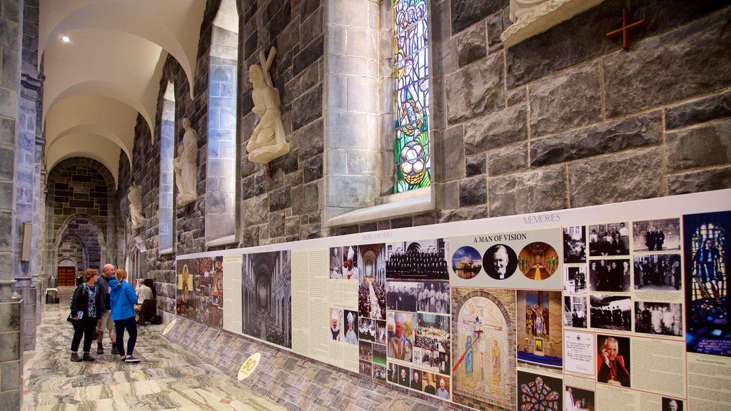 Galway Cathedral showing interior views as well as a small group of people