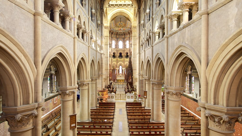 St. Finbarr\'s Cathedral featuring heritage architecture, interior views and religious aspects