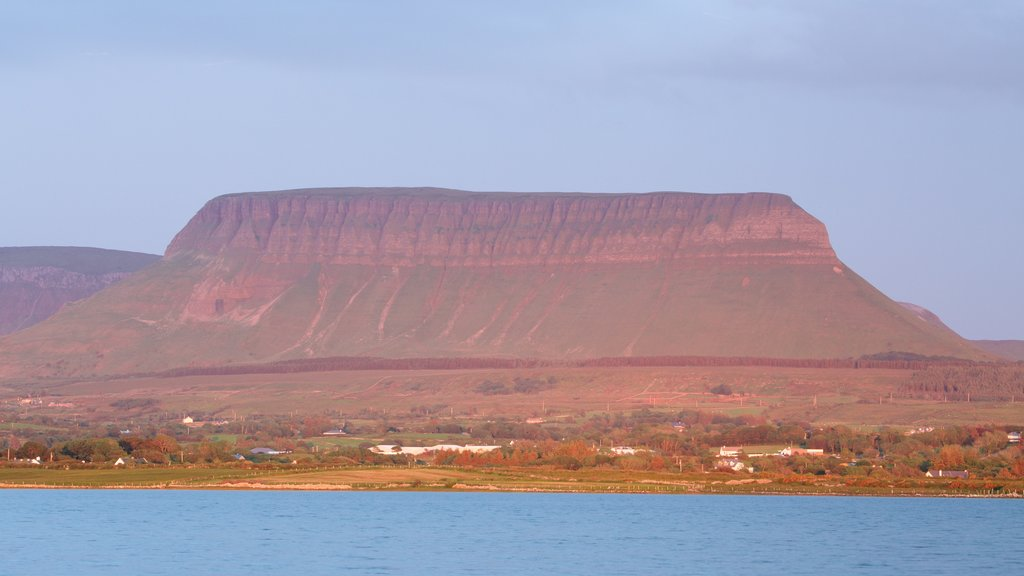 Ben Bulben which includes mountains and a river or creek