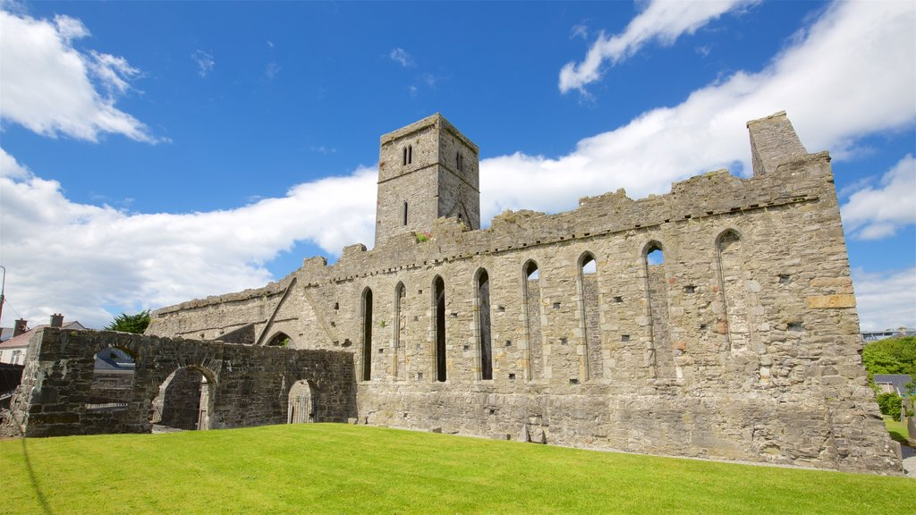 Sligo Abbey showing heritage elements, heritage architecture and building ruins