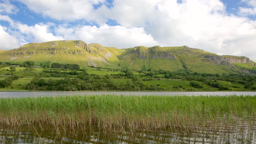 Sligo featuring tranquil scenes, mountains and a river or creek