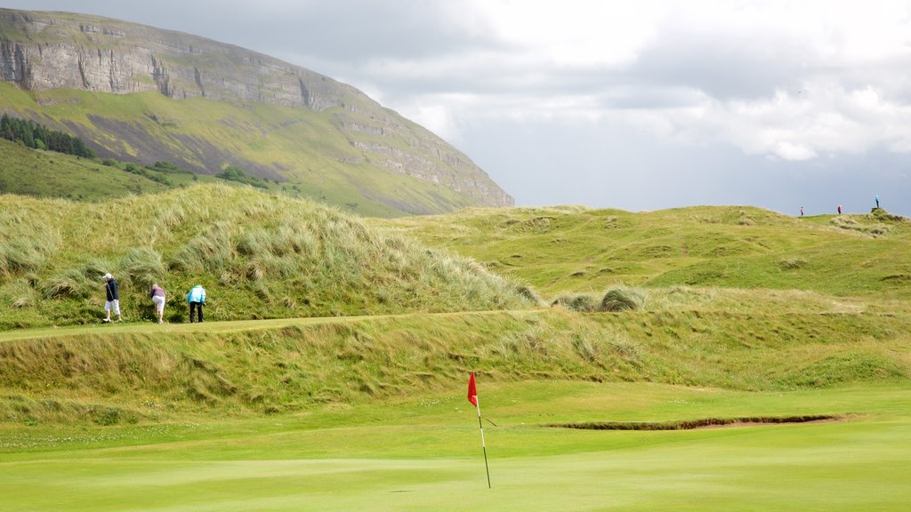 Knocknarea featuring golf and tranquil scenes as well as a small group of people