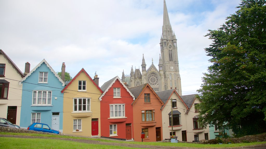 Cobh showing a house, heritage architecture and a church or cathedral