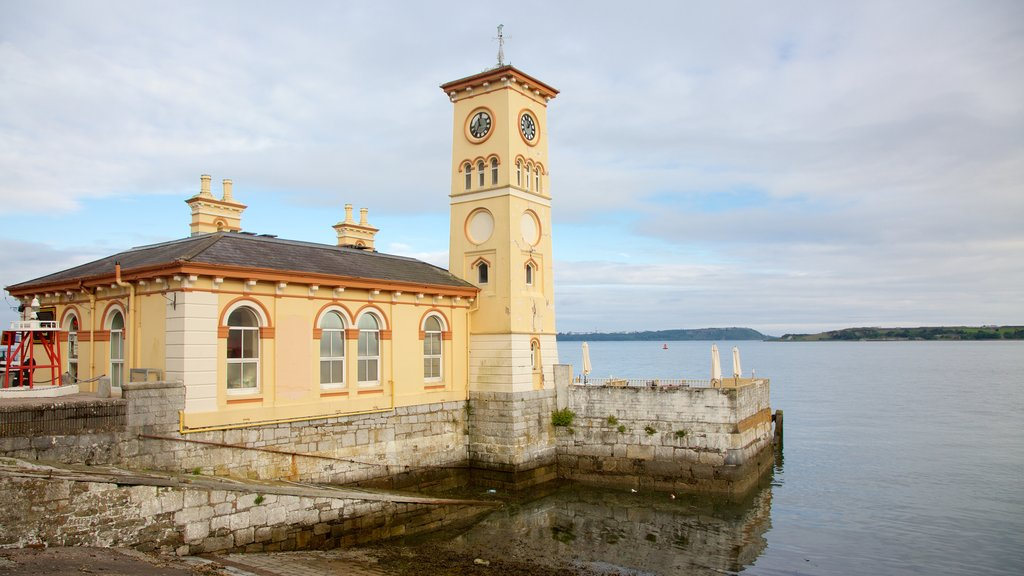 Cobh featuring heritage architecture, a lake or waterhole and heritage elements