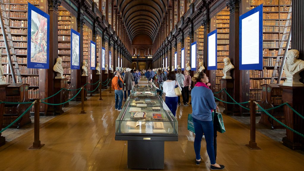 Trinity College showing heritage architecture, interior views and heritage elements