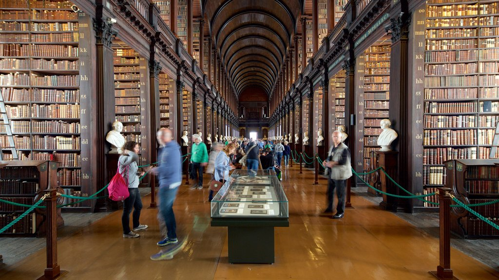 Trinity College showing heritage elements, interior views and an administrative buidling