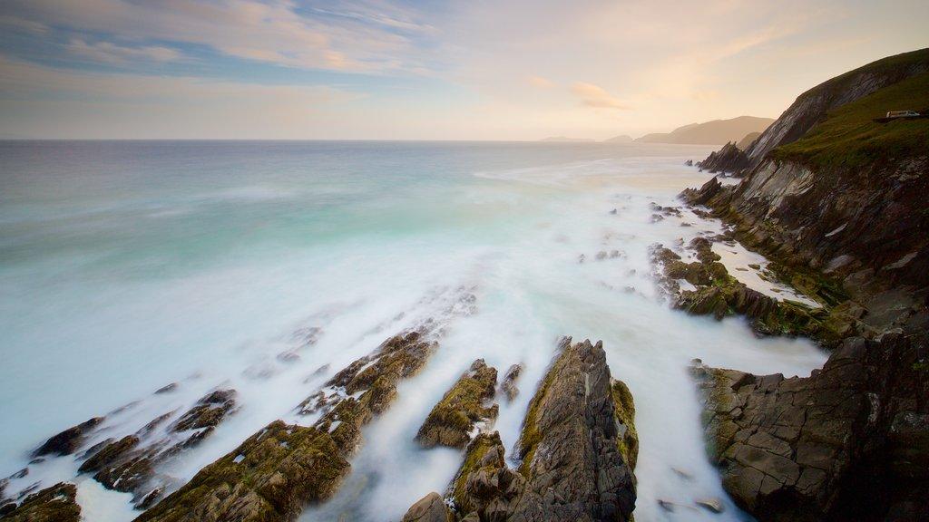 Dunmore Head featuring landscape views, general coastal views and rugged coastline
