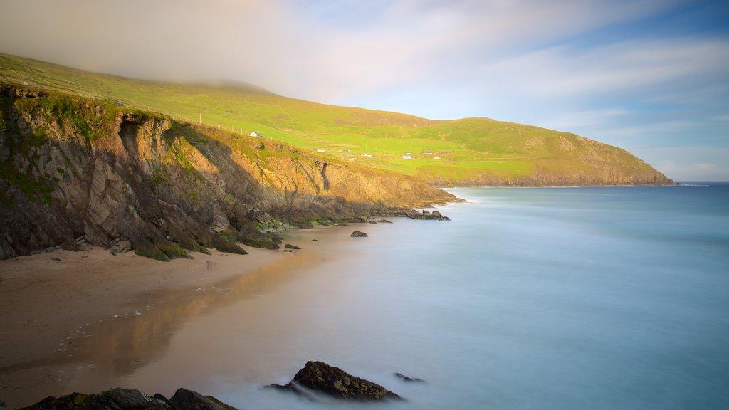 Dunmore Head showing a beach, general coastal views and landscape views
