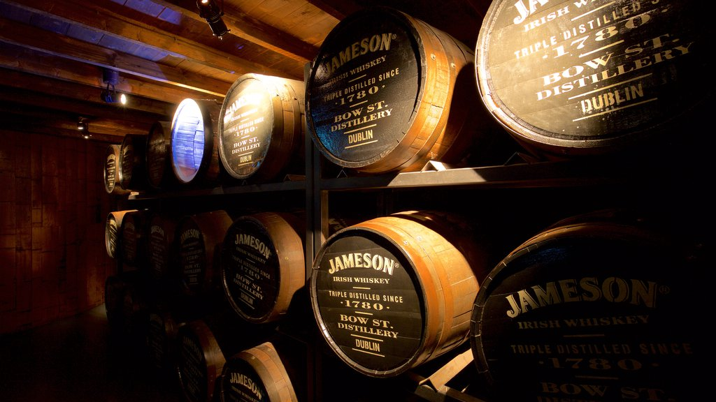 Old Jameson Distillery which includes interior views and heritage elements