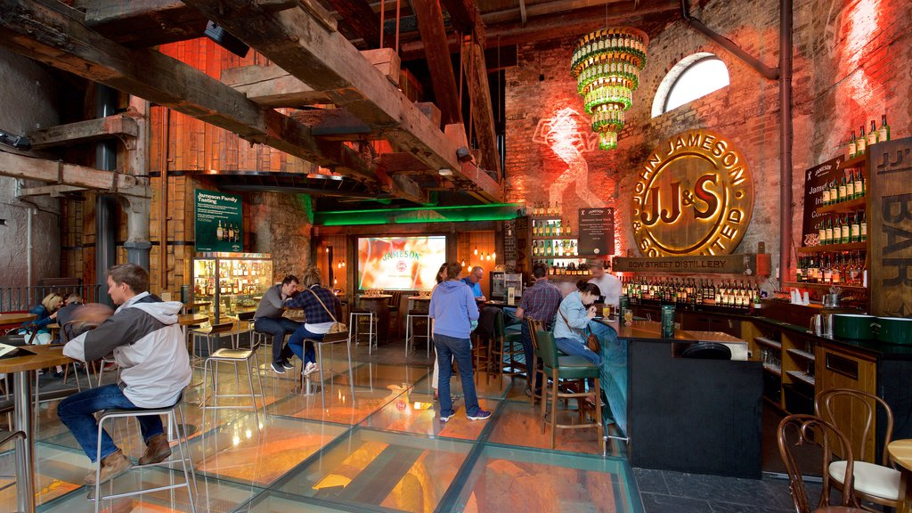 Old Jameson Distillery showing heritage elements, a bar and interior views