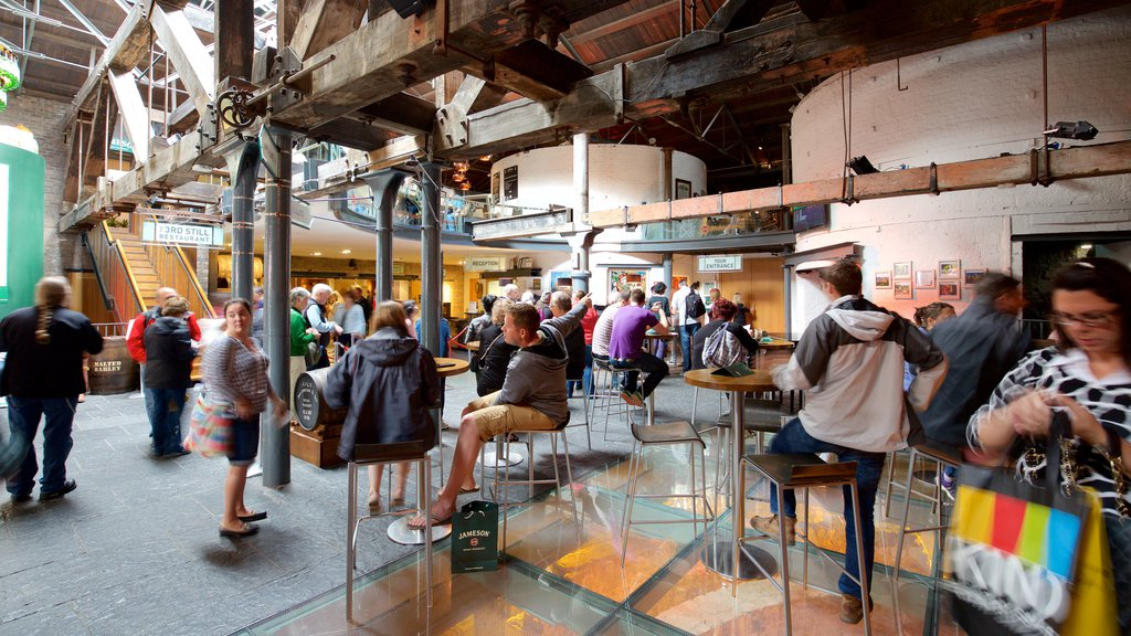 Old Jameson Distillery showing interior views, a bar and heritage elements