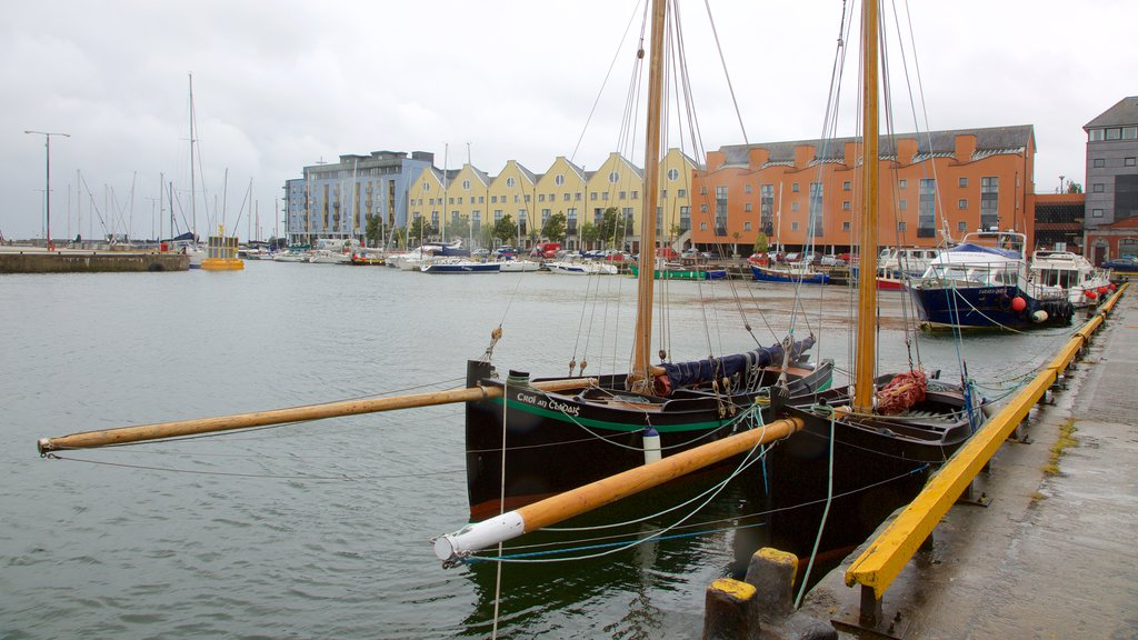 Galway Harbour which includes boating, a bay or harbor and sailing