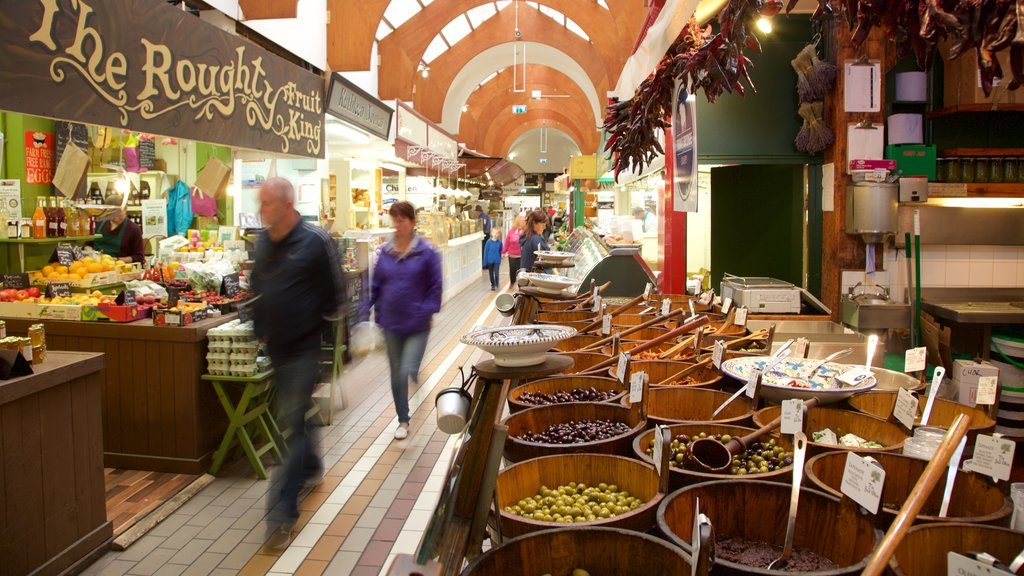 English Market featuring interior views, food and markets