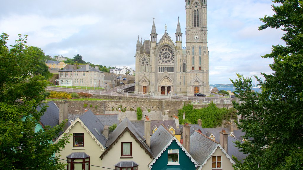 St. Colman\'s Cathedral which includes religious aspects, a church or cathedral and heritage architecture