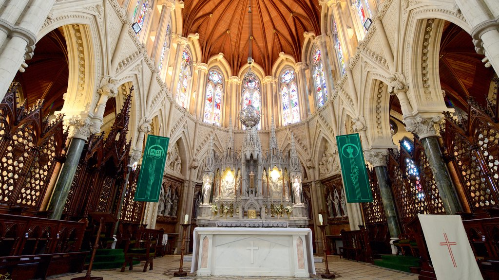 St. Colman\'s Cathedral featuring interior views, heritage elements and religious aspects