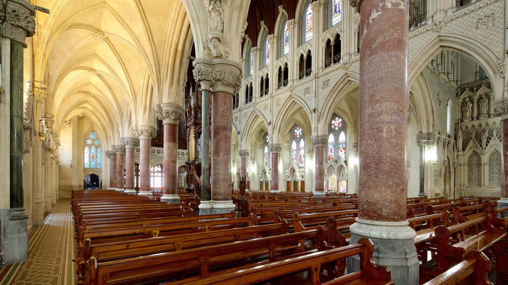 St. Colman\'s Cathedral showing religious aspects, heritage architecture and interior views