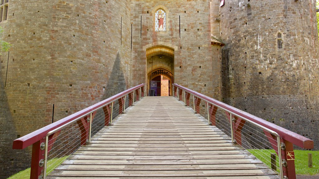 Castell Coch featuring heritage elements, heritage architecture and a castle