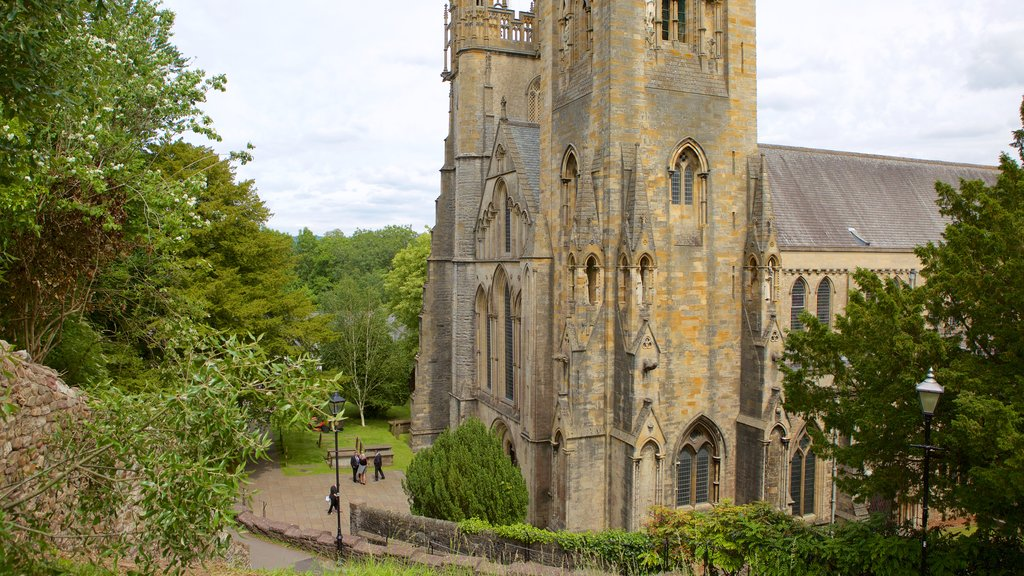 Llandaff Cathedral which includes religious aspects, heritage elements and a church or cathedral
