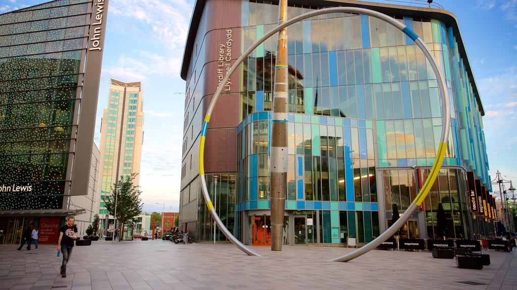 Cardiff featuring a city, modern architecture and a square or plaza