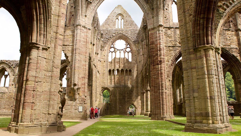 Tintern Abbey showing heritage architecture, chateau or palace and religious elements
