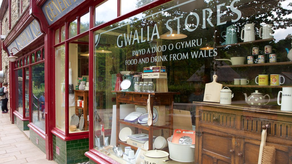 St Fagans featuring shopping and signage