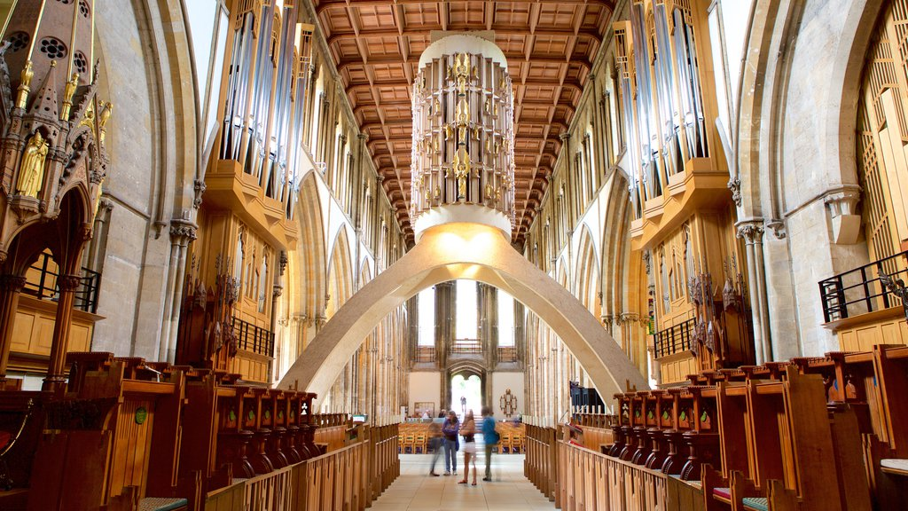 Llandaff Cathedral featuring religious elements, a church or cathedral and heritage elements