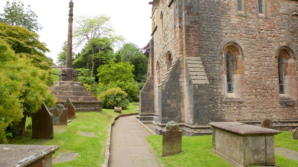 Llandaff Cathedral which includes heritage architecture, a cemetery and a church or cathedral