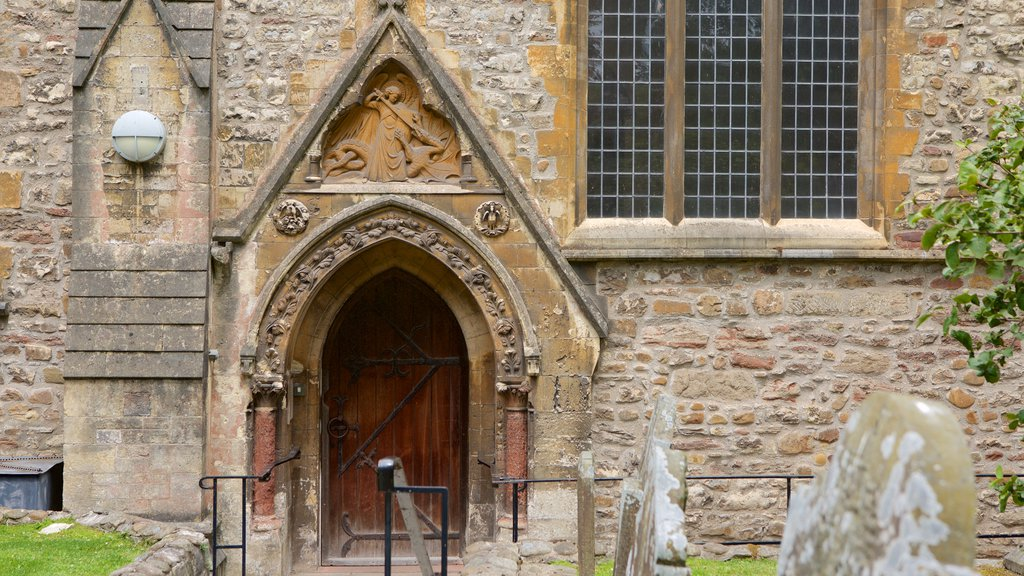 Llandaff Cathedral which includes a church or cathedral, heritage elements and religious aspects
