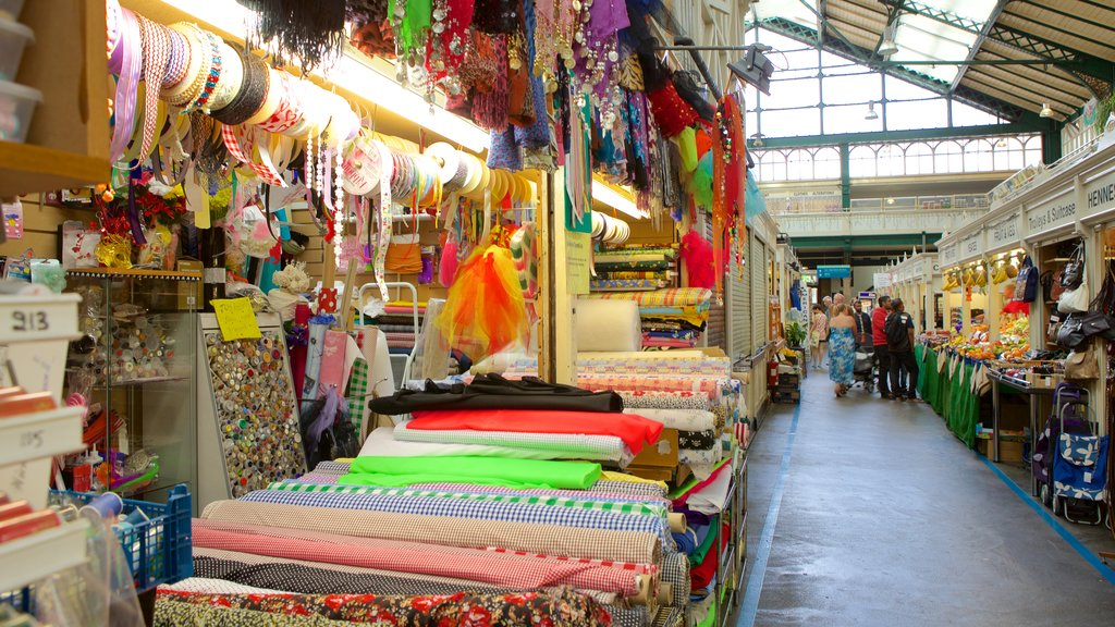 Cardiff showing markets and shopping