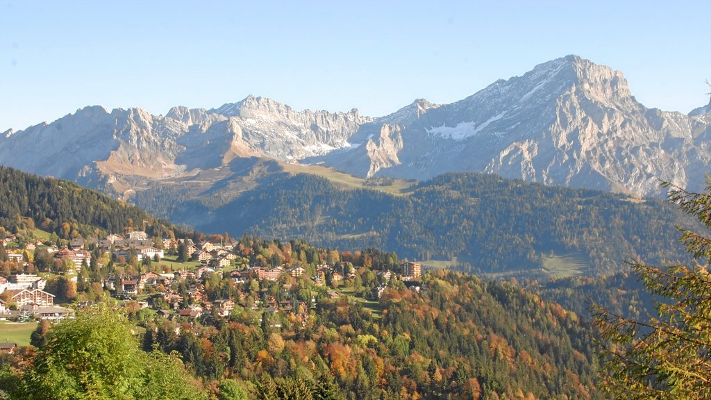 Villars which includes a small town or village, landscape views and forest scenes