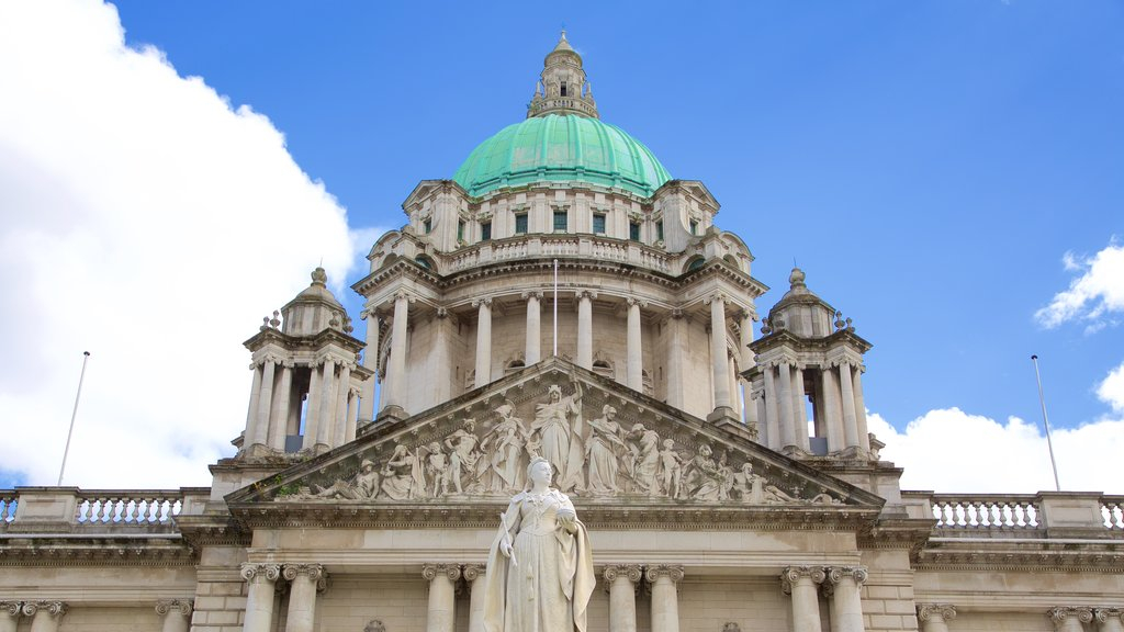 Belfast City Hall featuring chateau or palace, heritage architecture and heritage elements