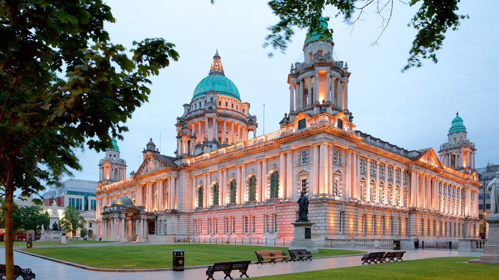 Belfast City Hall showing heritage elements, a castle and heritage architecture