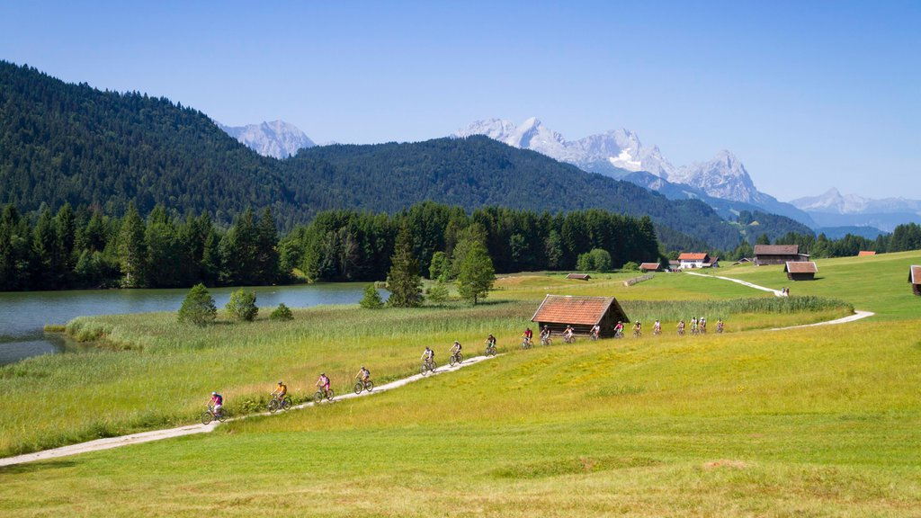 Garmisch-Partenkirchen showing mountain biking, landscape views and mountains