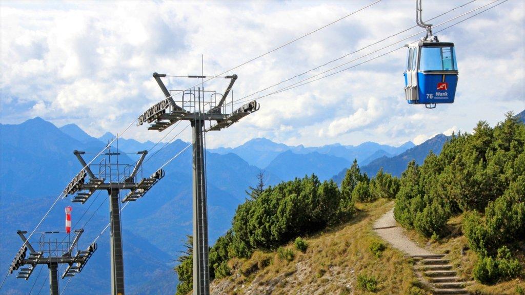 Garmisch-Partenkirchen Ski Resort showing mountains and a gondola