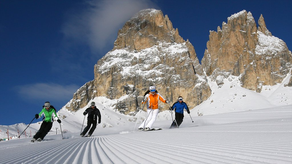 Fassa Valley which includes snow, snow skiing and mountains
