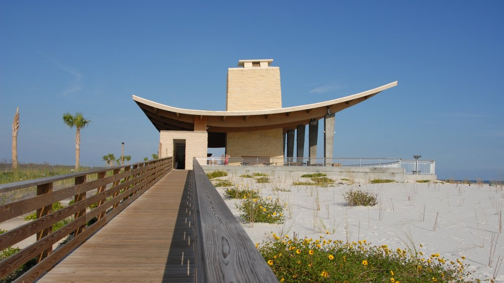 Gulf Shores showing modern architecture, a beach and general coastal views