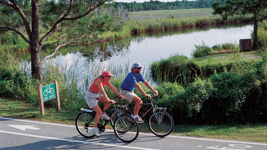 Gulf Shores which includes cycling and a lake or waterhole as well as a couple