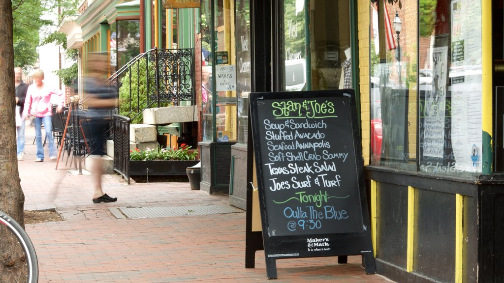 Annapolis featuring a city, cafe lifestyle and dining out