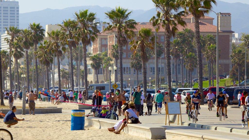 Santa Monica featuring a city, general coastal views and street scenes