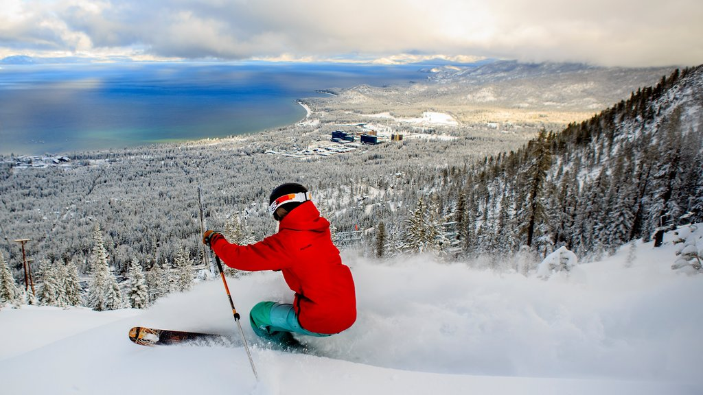 Heavenly Ski Resort featuring a lake or waterhole, snow skiing and landscape views