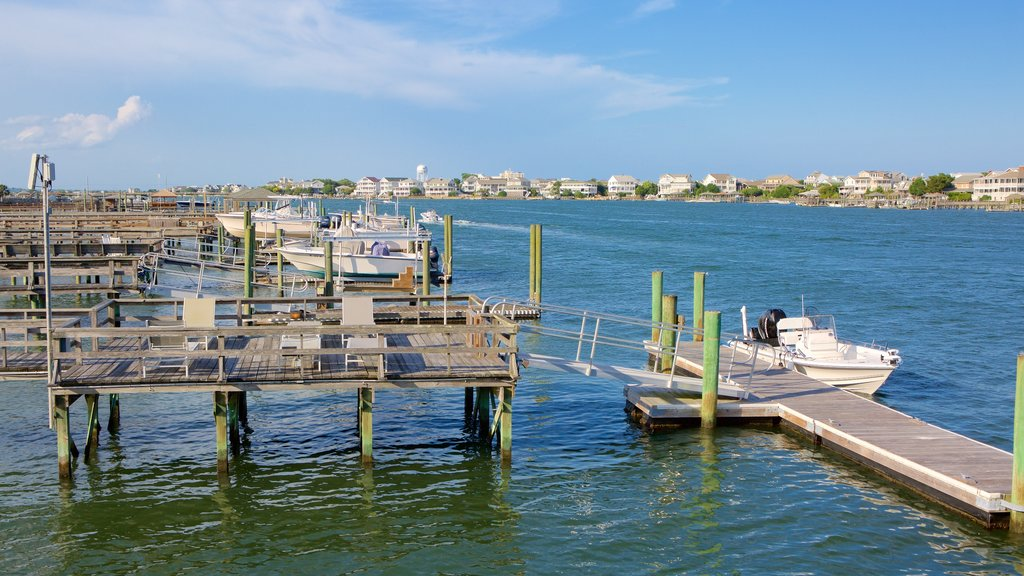 Wrightsville Beach featuring a river or creek, boating and a marina