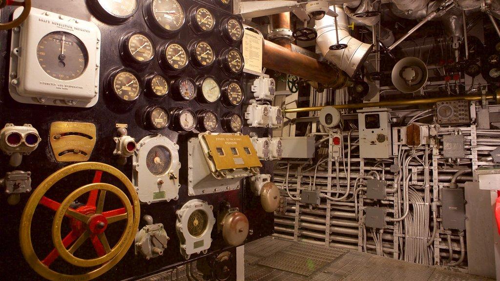 Battleship North Carolina showing heritage elements and interior views