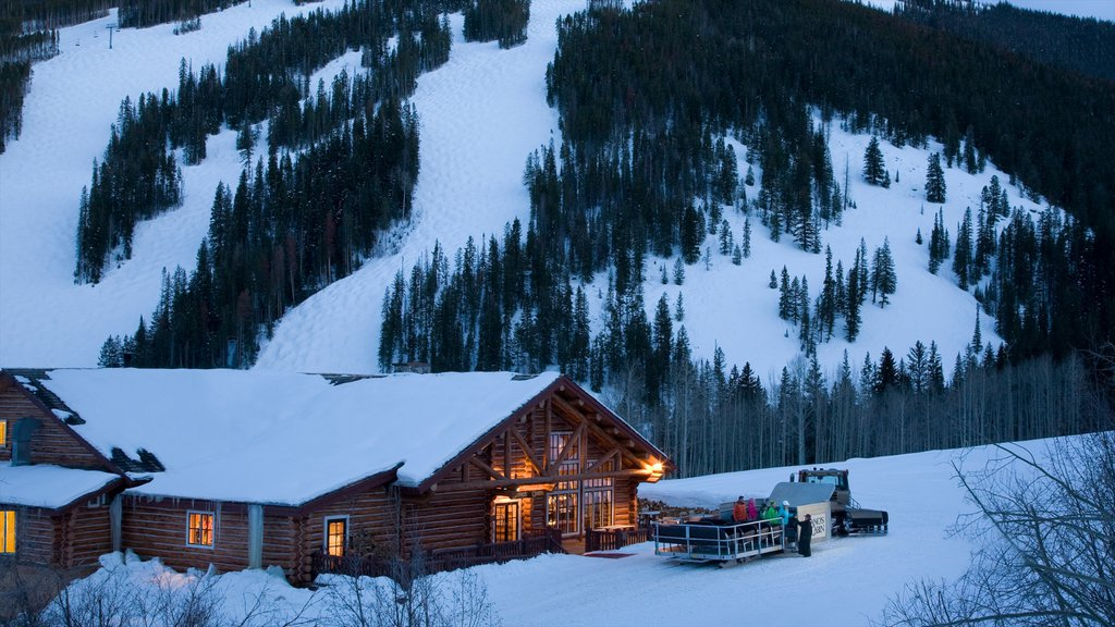 Beaver Creek Ski Area which includes a luxury hotel or resort and snow