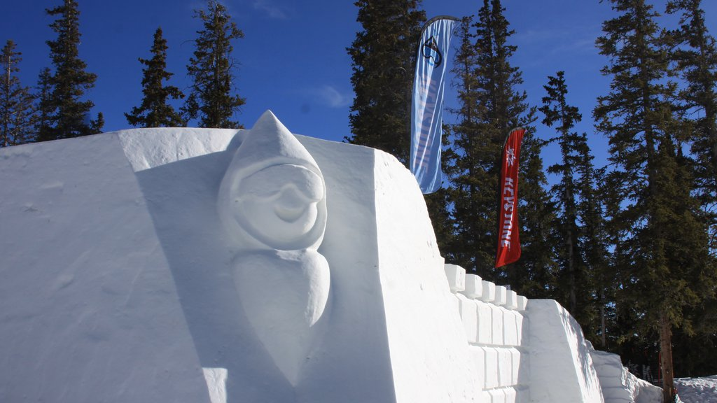 Keystone Ski Resort featuring a statue or sculpture, a luxury hotel or resort and snow