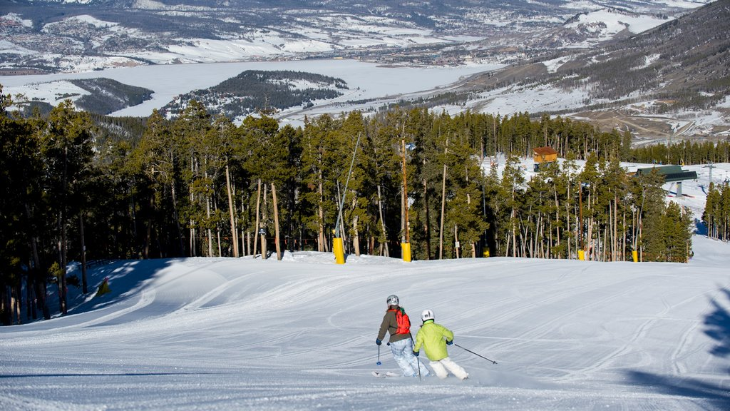 Keystone Ski Resort showing snow skiing, forests and snow boarding