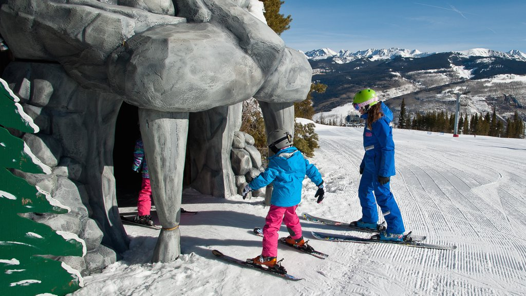 Vail Ski Resort featuring snow as well as children